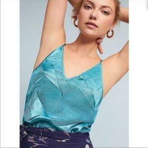 ANTHROPOLOGIE Floreat Wilfred texture teal